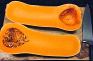 Cut the squash in half