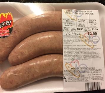 British Banger Sausage